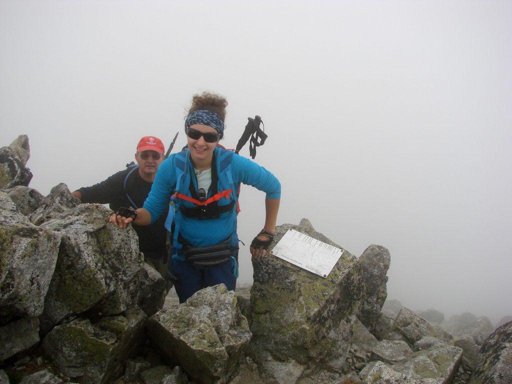 Ostatnie podejście na Małą Wysoką. Za mna Tatko, który nauczył mnie miłości do gór :)