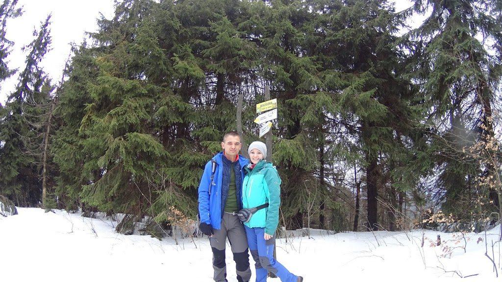Szczyt Waligóra 936 m n.p.m. Góry Suche Sudety Środkowe