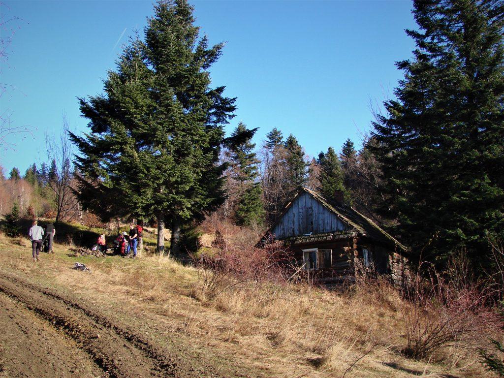 Przerwa śniadaniowa na polanie pod chatą