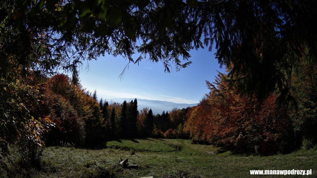 Panorama spod Soliska na inne beskidzkie szczyty