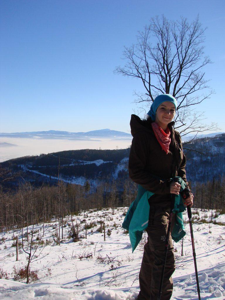 Natalia na szczycie Szyndzielni