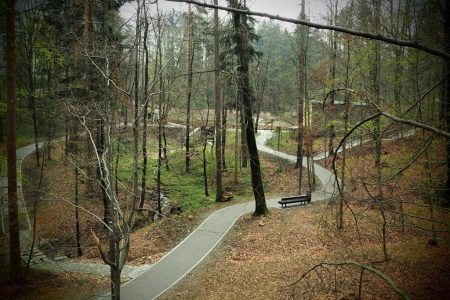 Ścieżki w Parku Zdrojowym w Głuchołazach