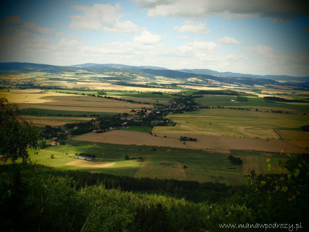Broumowskie Steny- panorama z Kamiennej Bramy