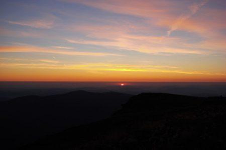 Wschód Słońca na Babiej Górze