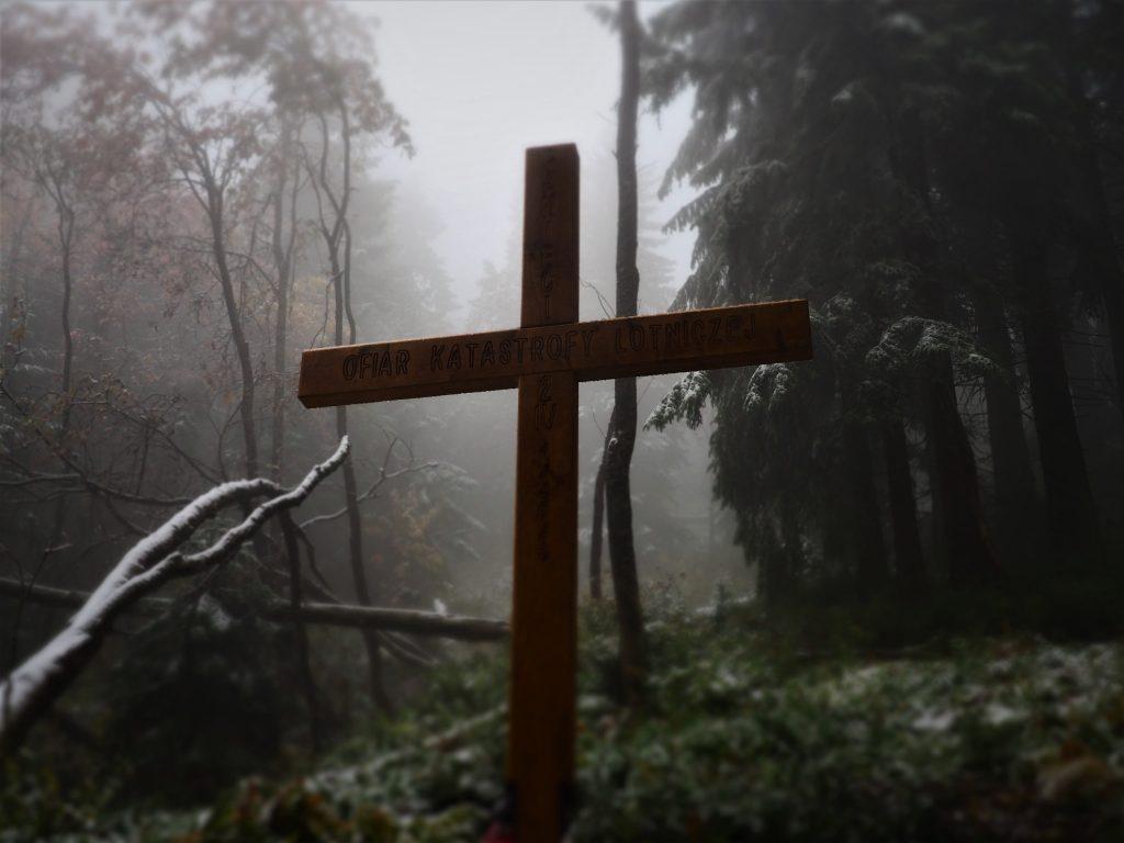 Krzyż upamiętniający ofiary lotniczej katastrofy z 1969 r.