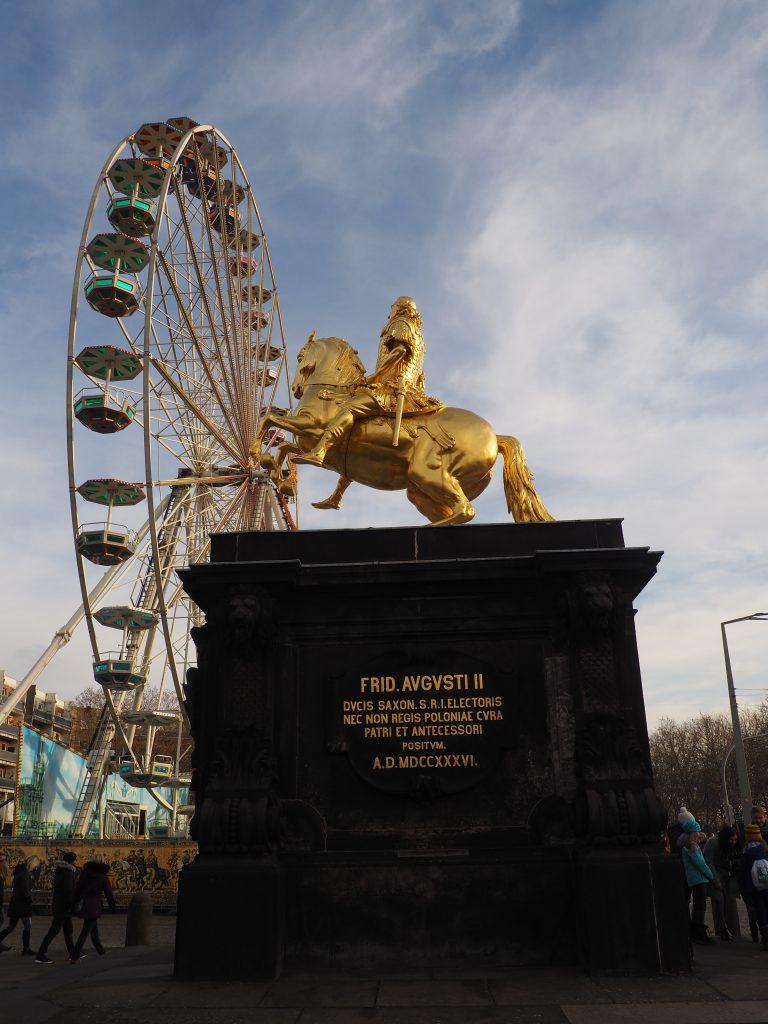 Pomnik Augusta II Mocnego na koniu przy August Markt