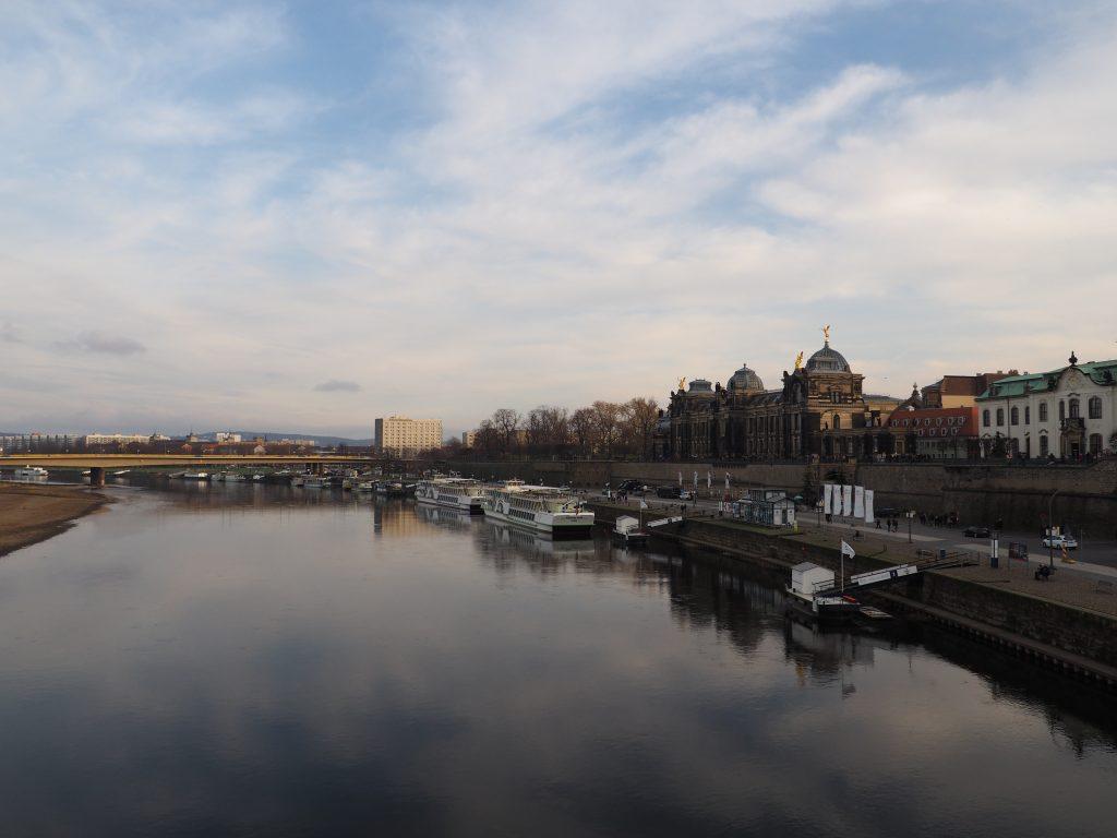 Widok z Mostu Augusta na Tarasy Brühla