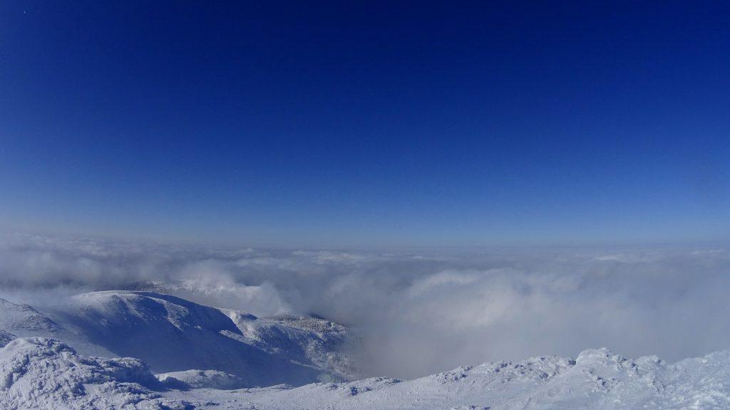 Widok z Babiej Góry w kierunku północnym
