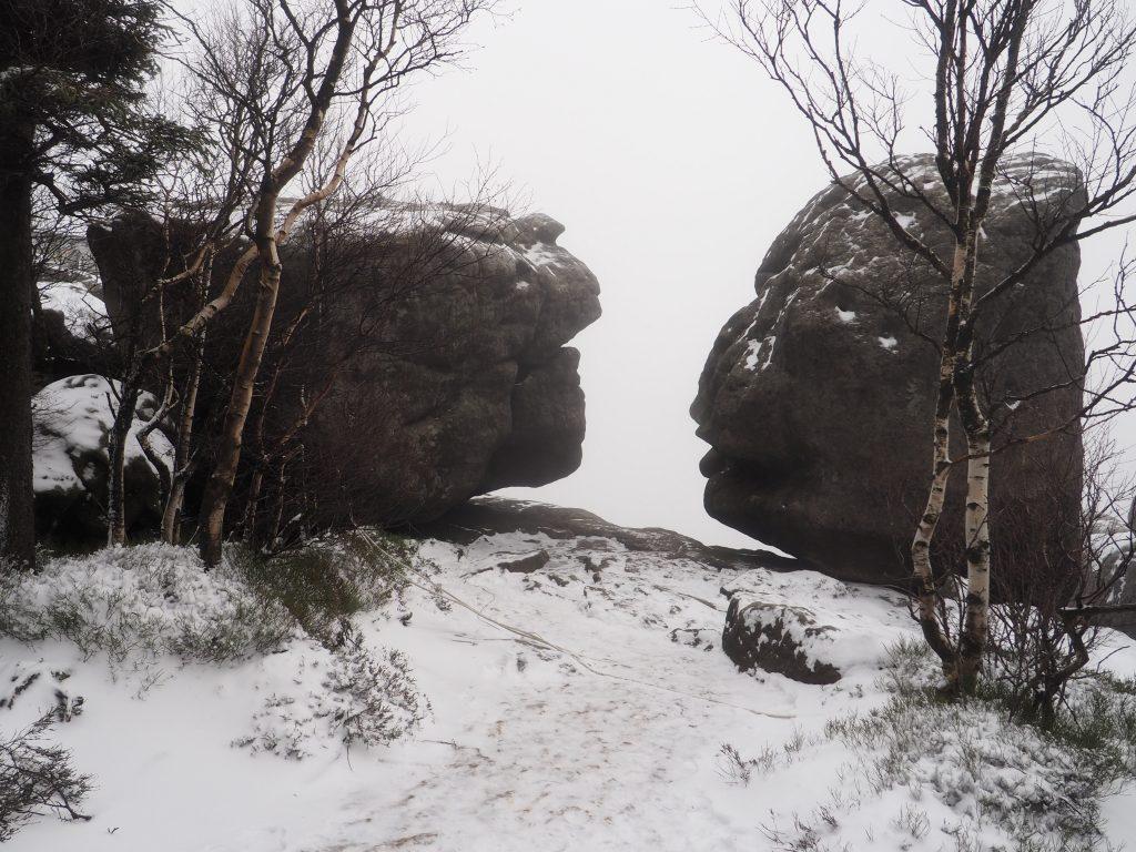 Formacja skalna na Szczelińcu