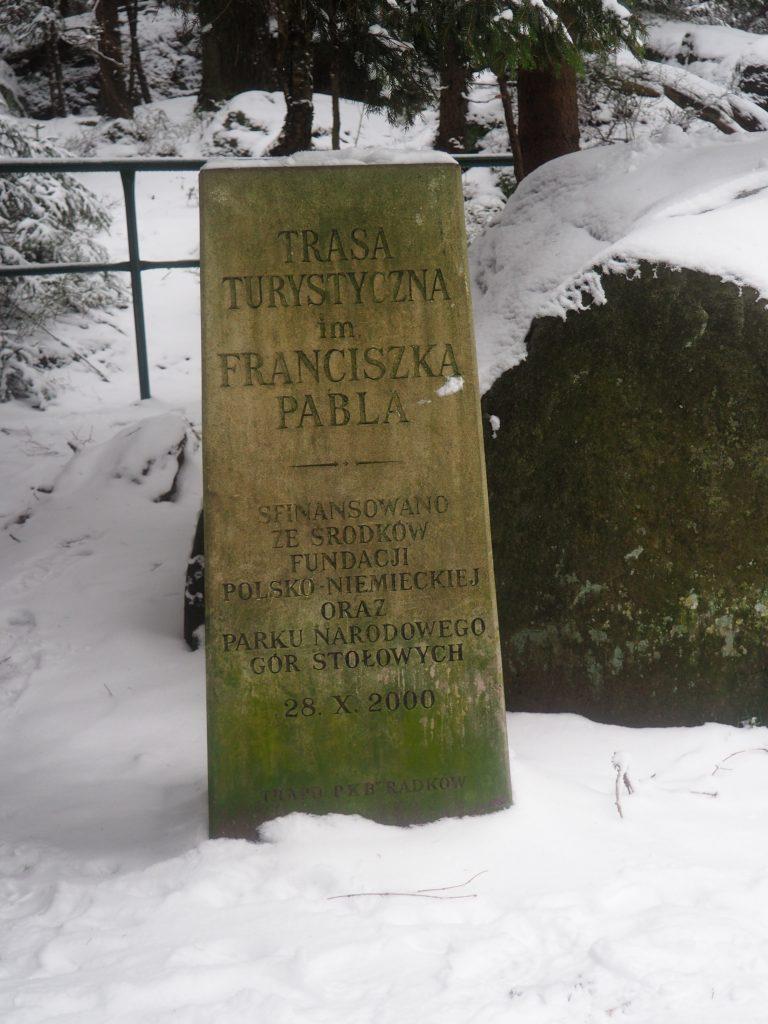 Kamień i tablica Franza Pabla