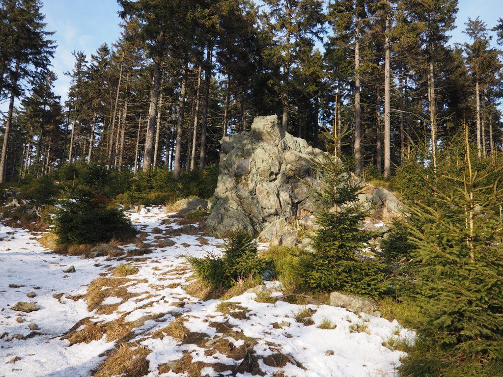 Formacja skalna na Koziej Równi