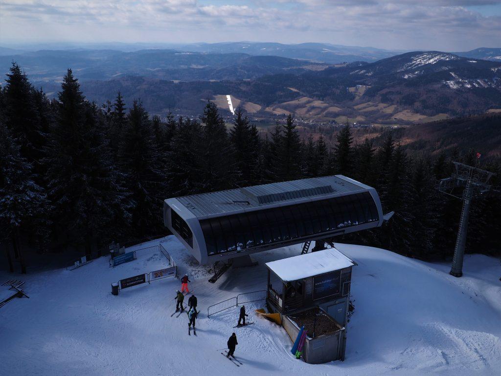 Wyciąg narciarski- stacja górna