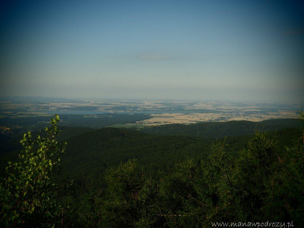 Widok z wieży widokowej na Jaworniku Wielkim