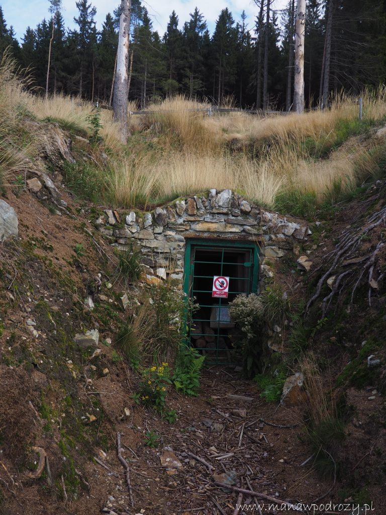 Zamknięte wejście do sztolni