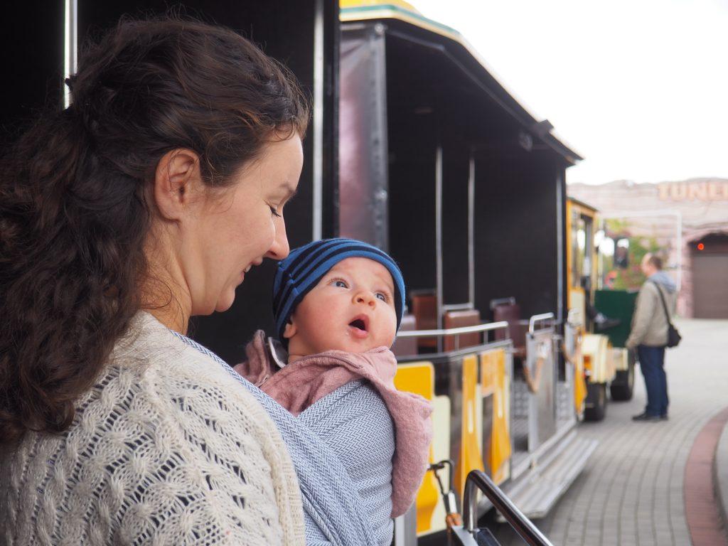 Wjeżdżamy do Tunelu Czasu- nawet Tosia była podekscytowana!