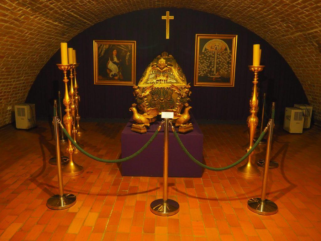 Sarkofag księcia Jerzego- inicjatora przebudowy brzeskie zamku w renesansową rezydencję