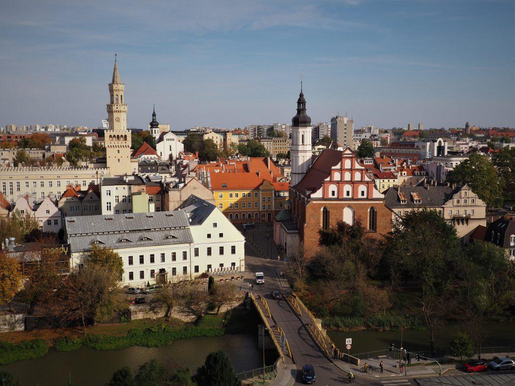 Widok z Wieży Piastowskiej na Stare Miasto