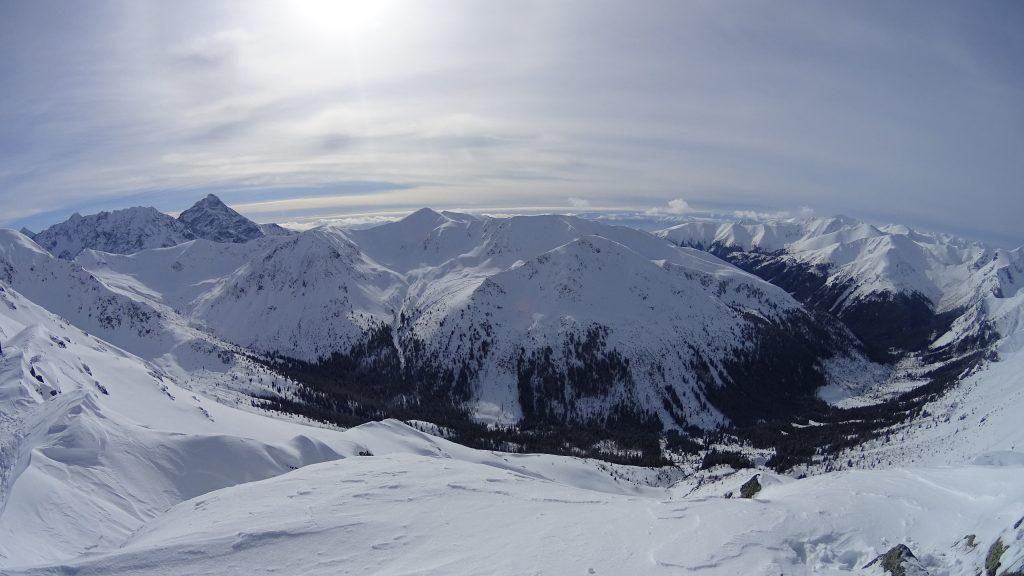 Panorama z Beskidu na Tatry Słowackie