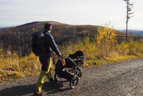 Wózek w górach to duży komfort;)