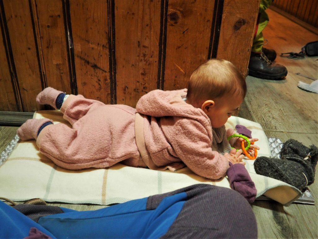 Prostowanie nóg w schronisku