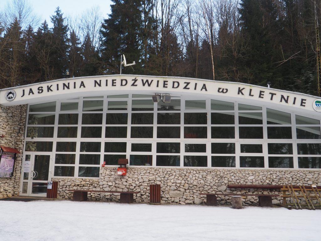 Panel wejściowy do Jaskini Niedźwiedzia- niestety tym razem zamkniętej