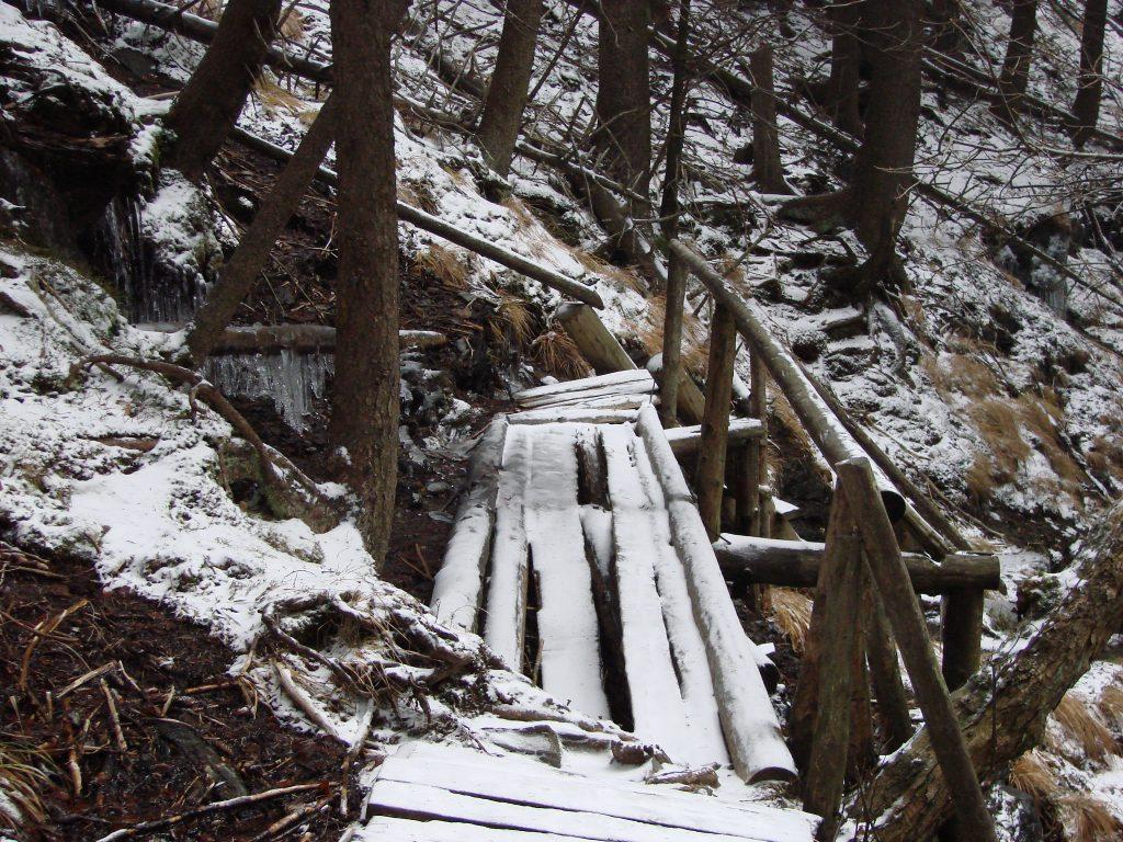 Mostek przed wodospadem