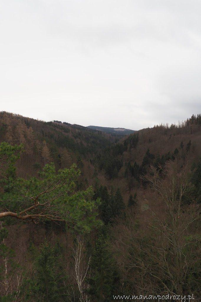 Raci Udoli- widok z zamku Rychleby