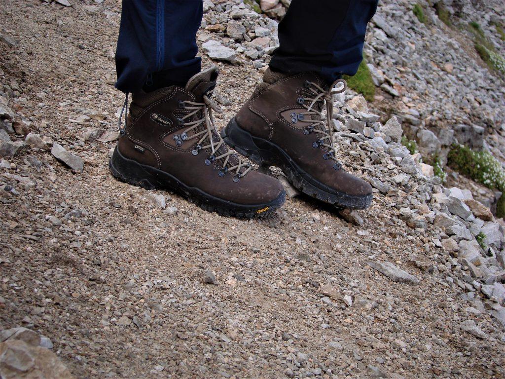 Buty świetnie trzymały się na stromych, piargowych zejściach