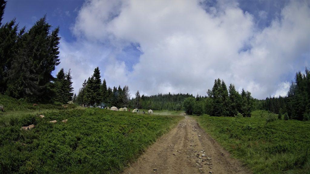 Baza namiotowa pod Gorcem