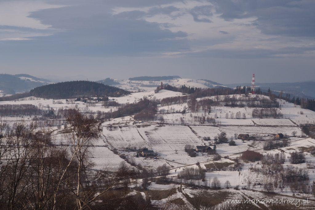 Widok z Góry Wszystkich Świętych na Górę Świętej Anny