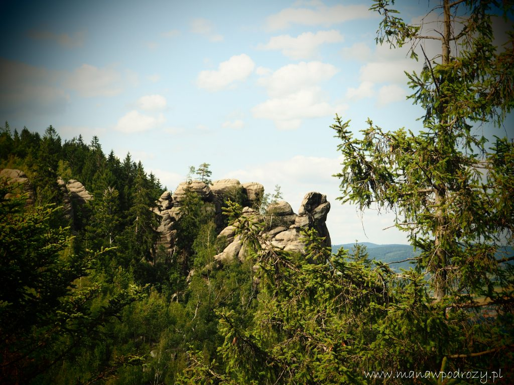 Kamenne Hriby- widok ze skały