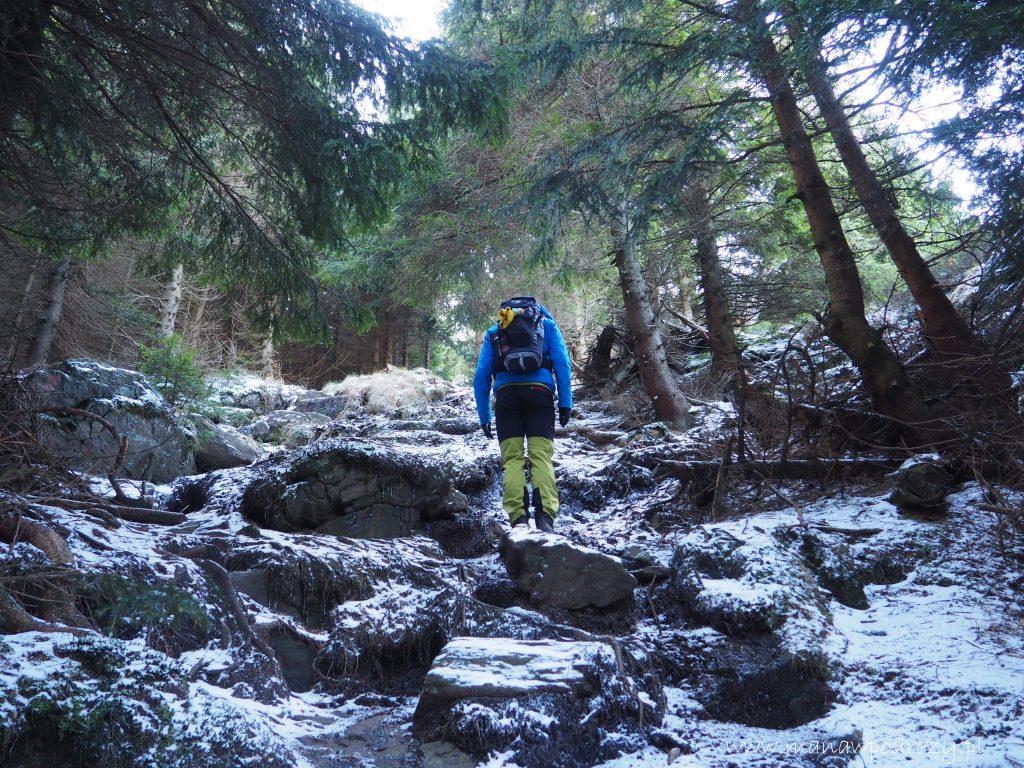 Podejście do punktu widokowego na górze Tocnik