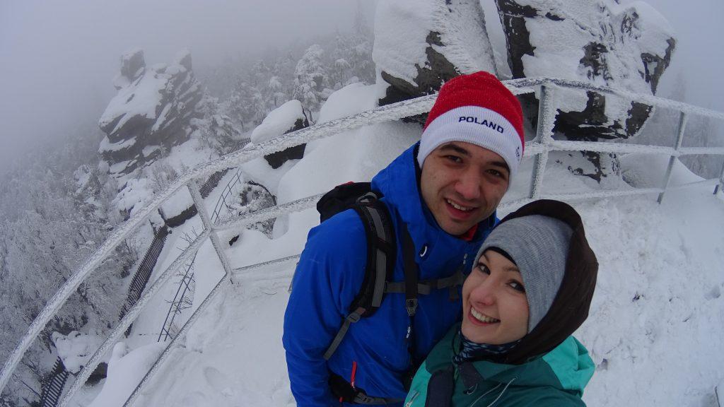 Na Fotelu Pradziada, najwyższym szczycie Gór Stołowych