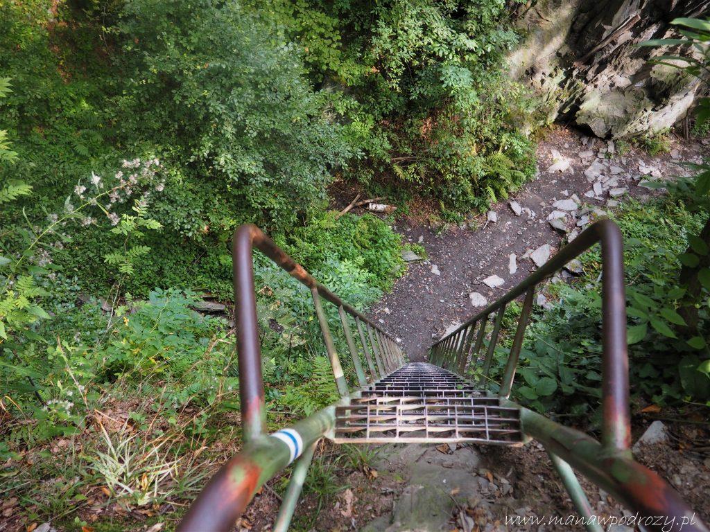 Drabinka na szlaku przez Gwarkową Perć