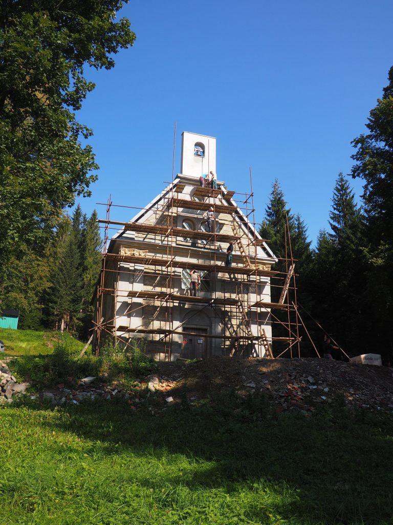 Remontowana kaplica św. Anny