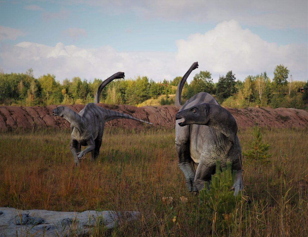 Modele dinozaurów w JuraPark Krasiejów są bardzo urealnione