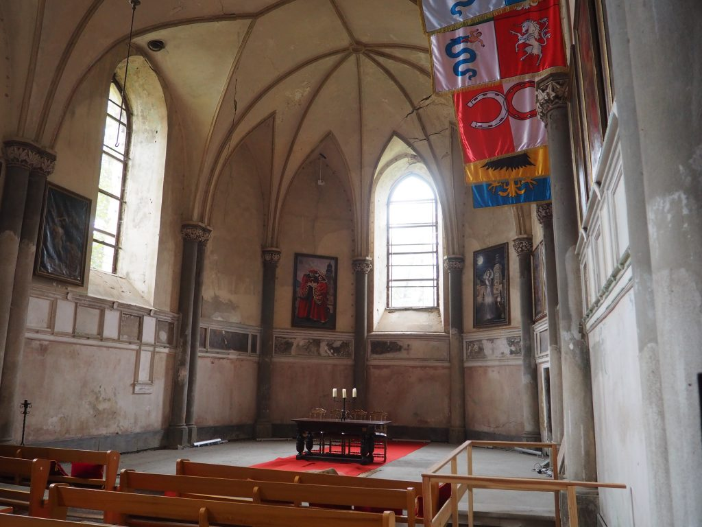 Kaplica zamkowa- jej surowy charakter zrobił na nas ogromne wrażenie