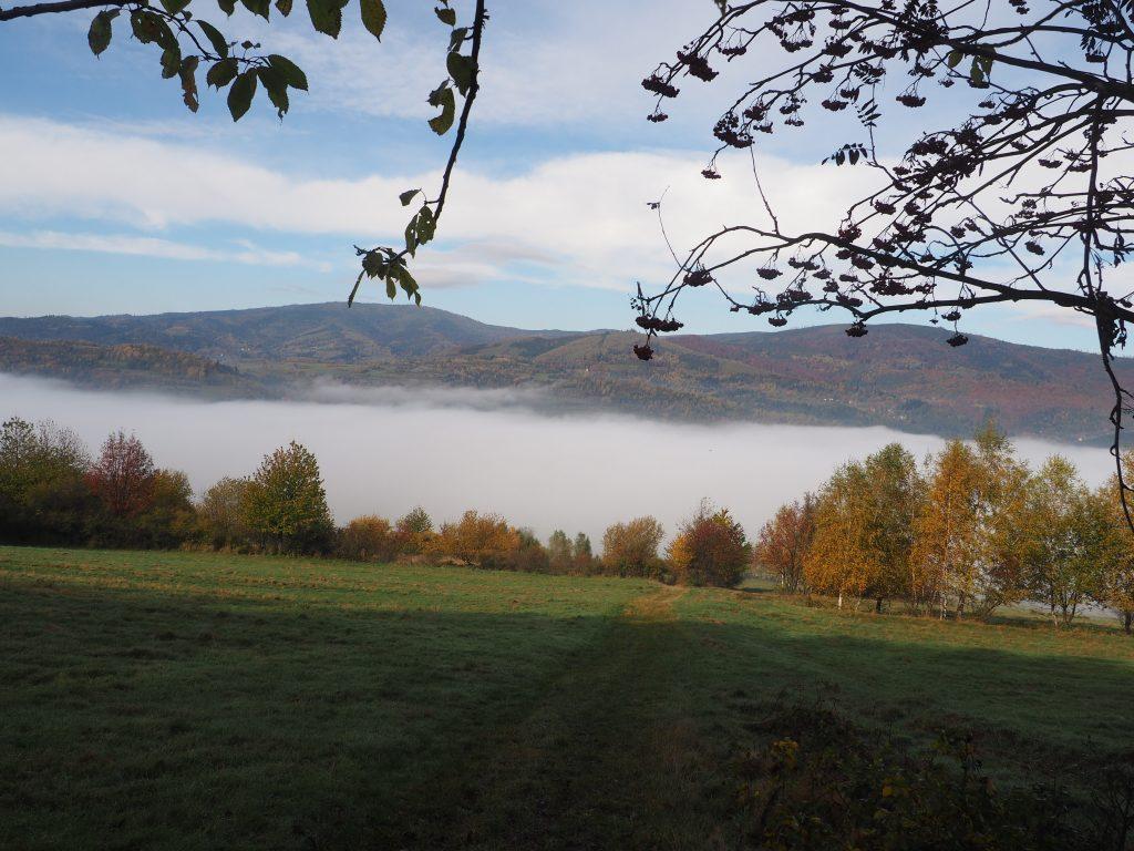 ...aż w końcu wyłania się piękny widok na Baranią Górę