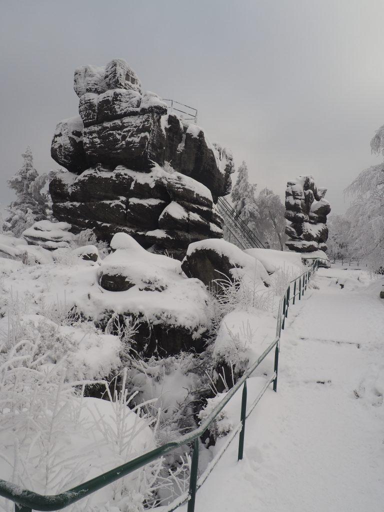 Fotel Pradziada- najwyższy punkt na Szczelińcu