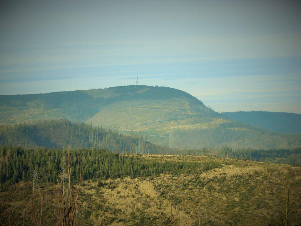 Widok na Skrzyczne, najwyższy szczyt Beskidu Śląskiego