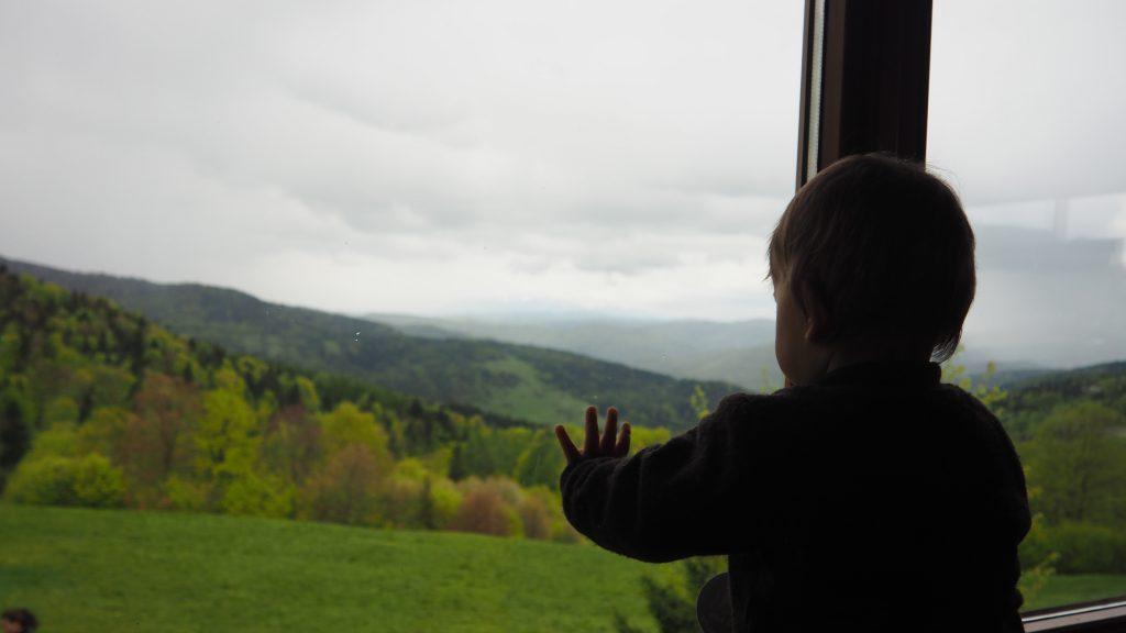 Widok z okna Bacówki PTTK nad Wierchomlą