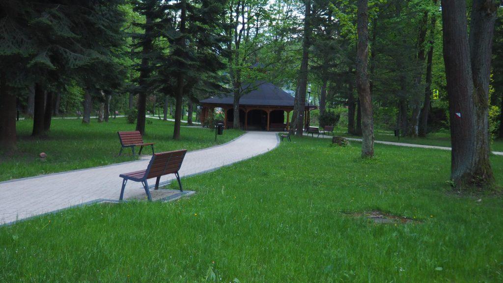 Park Słotwiński- tężnia solankowa
